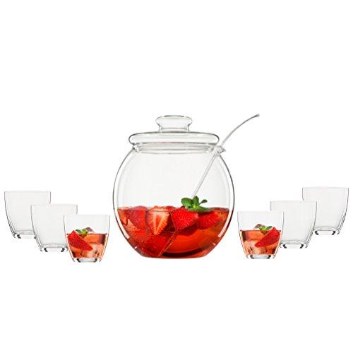 bohemia cristal 093 006 146 bowleset 9 teilig 1 bowlek rper ca 4 5 ltr mit deckel aus. Black Bedroom Furniture Sets. Home Design Ideas