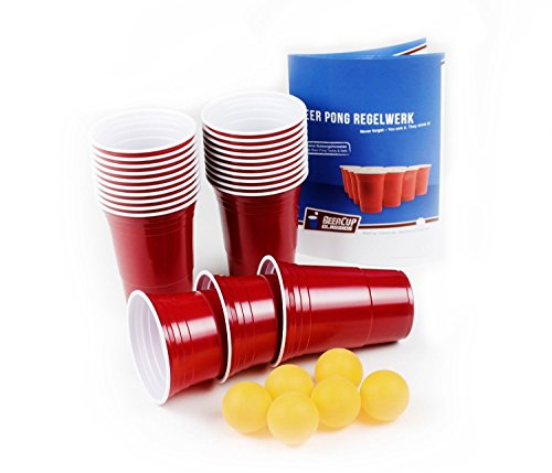 blaue becher blue party beer pong cups 16 oz 473 ml blau inkl orangene beer pong b lle und. Black Bedroom Furniture Sets. Home Design Ideas