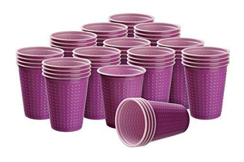 40 st ck trinkbecher plastikbecher 200 ml verschiedene for Ikea trinkbecher