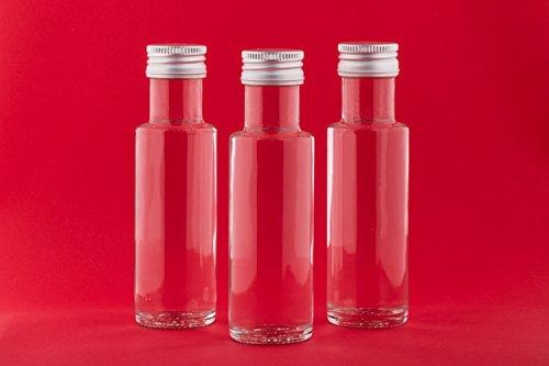 24 leere glasflaschen 40 ml krug mini miniatur flaschen kleine flaschen glasfl schen mit. Black Bedroom Furniture Sets. Home Design Ideas