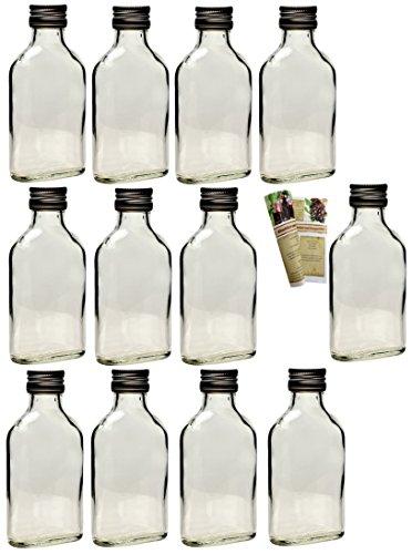 20 leere glasflaschen 100 ml taschi mit schraubverschluss zum selbst abf llen 0 1 liter l. Black Bedroom Furniture Sets. Home Design Ideas