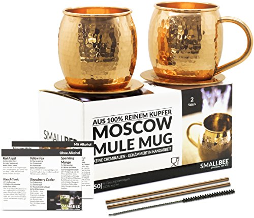 moscow mule becher geschenk set 2 kupfertassen 2. Black Bedroom Furniture Sets. Home Design Ideas