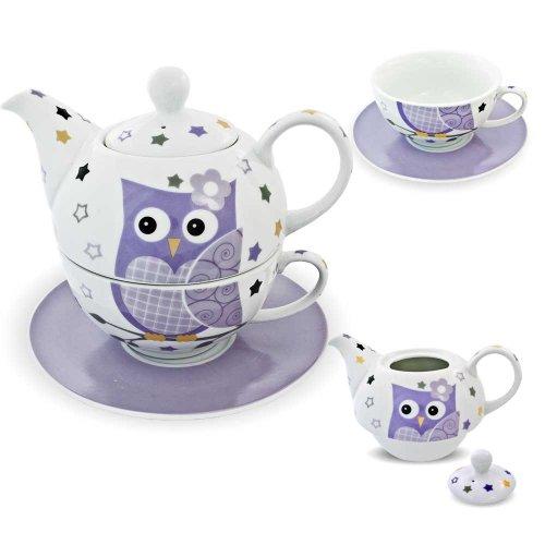 tea for one set 3 teilig porzellan teekanne mit tasse und untertasse mit rosen und blumen motiv. Black Bedroom Furniture Sets. Home Design Ideas