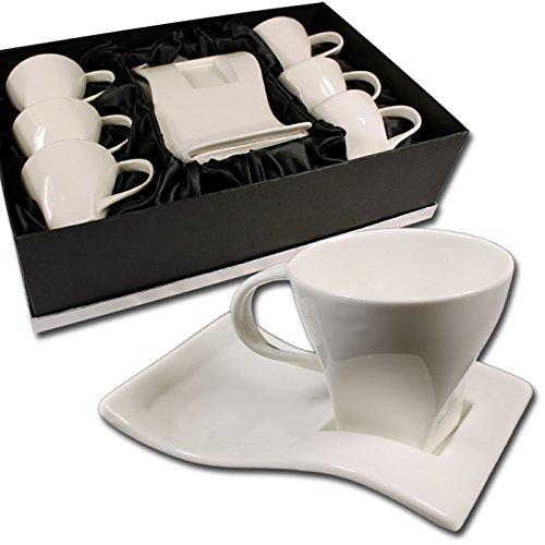 12 tlg espressotassen set im edlen design mit. Black Bedroom Furniture Sets. Home Design Ideas