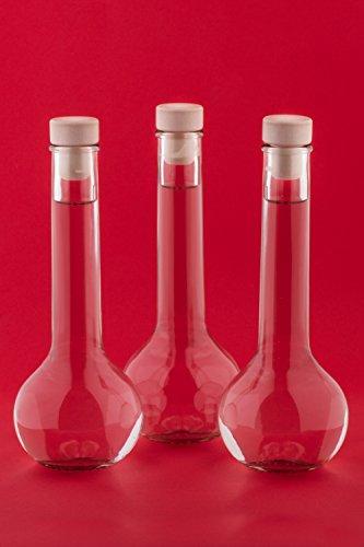 12 set lik rflaschen zierflaschen glasflaschen zum selbstabf llen 200ml resiako. Black Bedroom Furniture Sets. Home Design Ideas