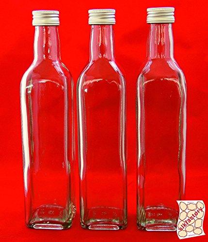 12 leere glasflaschen 200 ml mit schraubverschluss tasc 0 2 liter l lik rflaschen. Black Bedroom Furniture Sets. Home Design Ideas