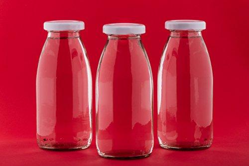 12 leere glasflaschen 200ml kleine saftflaschen weithals smoothie flaschen von slkfactory resiako. Black Bedroom Furniture Sets. Home Design Ideas