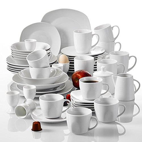 malacasa serie elisa 50 teilig tafelservice aus porzellan kombiservice fr hst ckservice. Black Bedroom Furniture Sets. Home Design Ideas