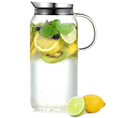 tamume 1 5 liter wasser pitcher obst wasserkrug mit. Black Bedroom Furniture Sets. Home Design Ideas