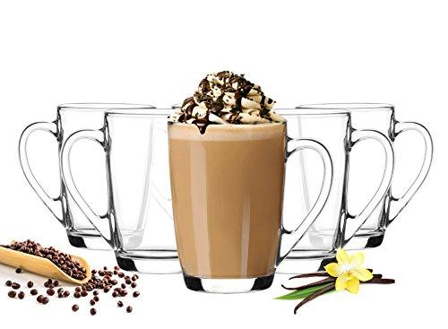 6 latte macchiato gl ser 300 ml mit henkel und 6 edelstahl l ffeln gratis resiako. Black Bedroom Furniture Sets. Home Design Ideas