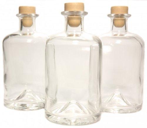3 apotheker flaschen 1l essigflaschen lflaschen schnapsflaschen lik rflaschen karaffen leer. Black Bedroom Furniture Sets. Home Design Ideas